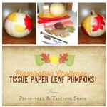 My #pinspirationchallenge is here from @pinntell ! What do you think of these Tissue Paper Leaf Pumpkins?! The challenge is to make one of your own and share at @pinntell to be featured! Have fun!