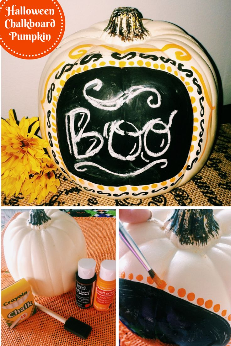 halloween chaulkboard pumpkin