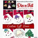 Looking for a Holiday craft idea? Make @pinntell Custom Gift Boxes featuring #LauraKellyWinterHats ❤️ This is kid friendly and adds your own unique touch to gift giving!