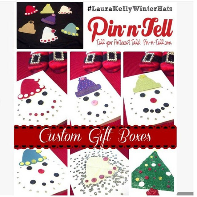 Custom Gift Boxes featuring #LauraKellyWinterHats