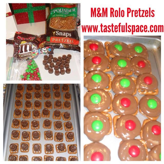 M&M Rolo Pretzel recipe