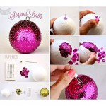 Make your own Sequin Balls Ornaments using a styrofoam ball, pins, and sequins! Perfect for gift giving!