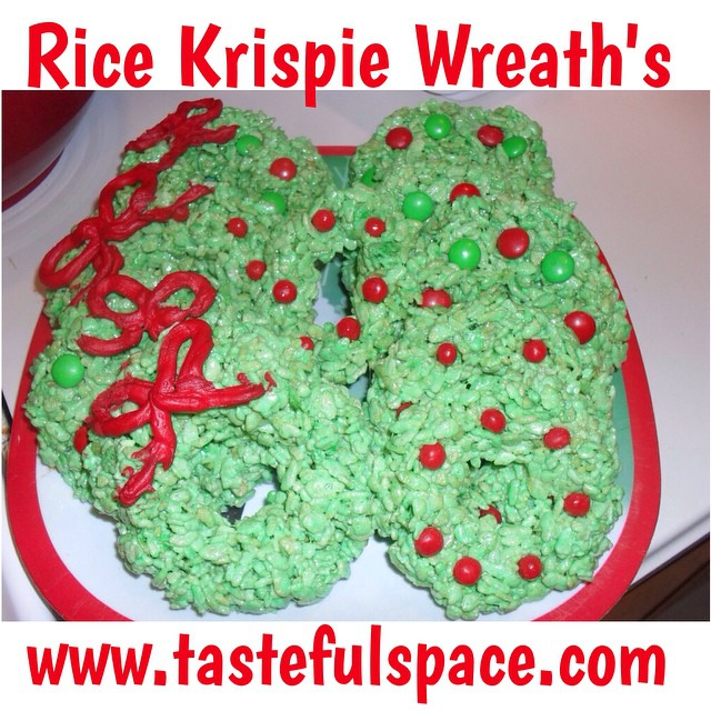 Rice Krispie Wreath