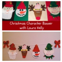 creating my Christmas craft with #LauraKellyWinterHats