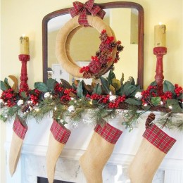 decorate your mantel for the Holidays