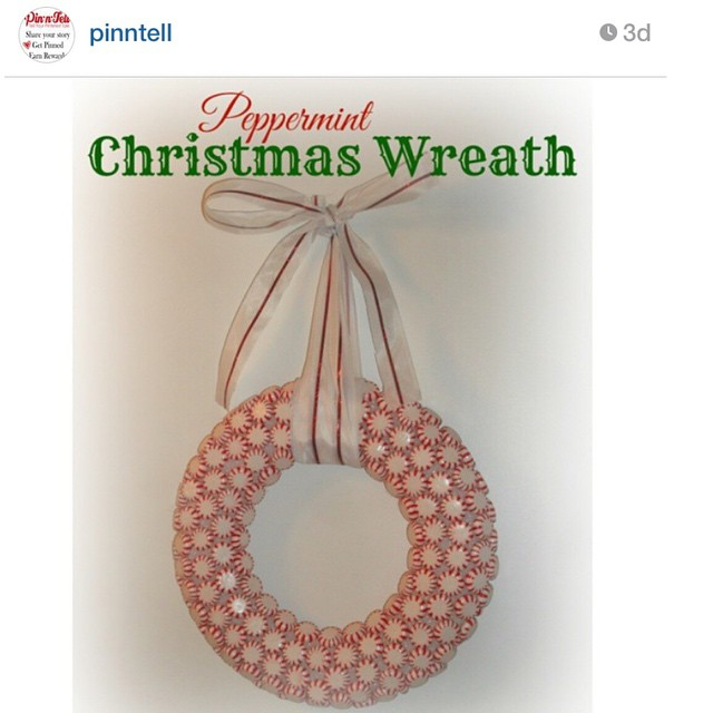 Thank you to @pinntell for featuring my Peppermint Christmas Wreath on their website! Make it on http://pin-n-tell.com/peppermint-christmas-wreath/