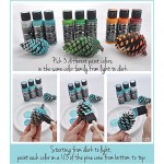 Ombré Pinecones are a fun and kid friendly craft to add to your winter decor!