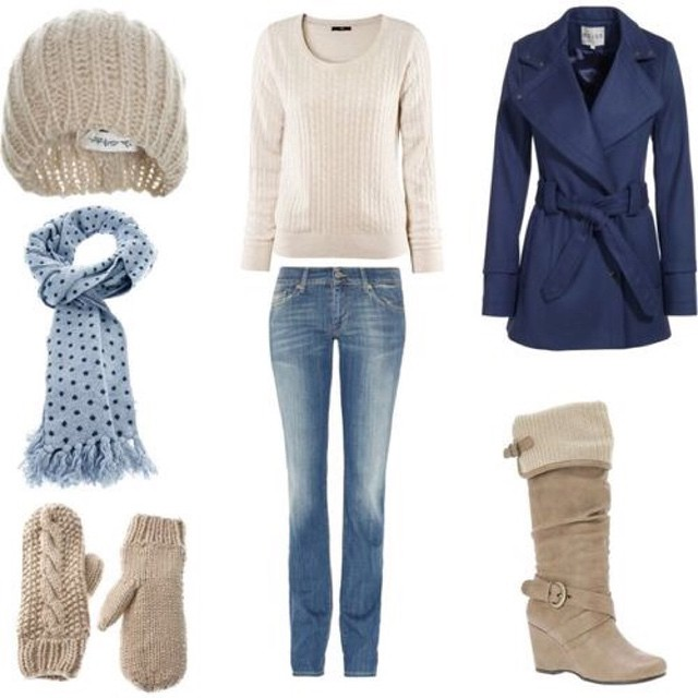 Stay warm by layering and color coordinating