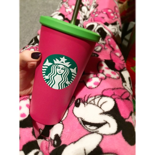 Starbucks and Minnie pajama pants never get old