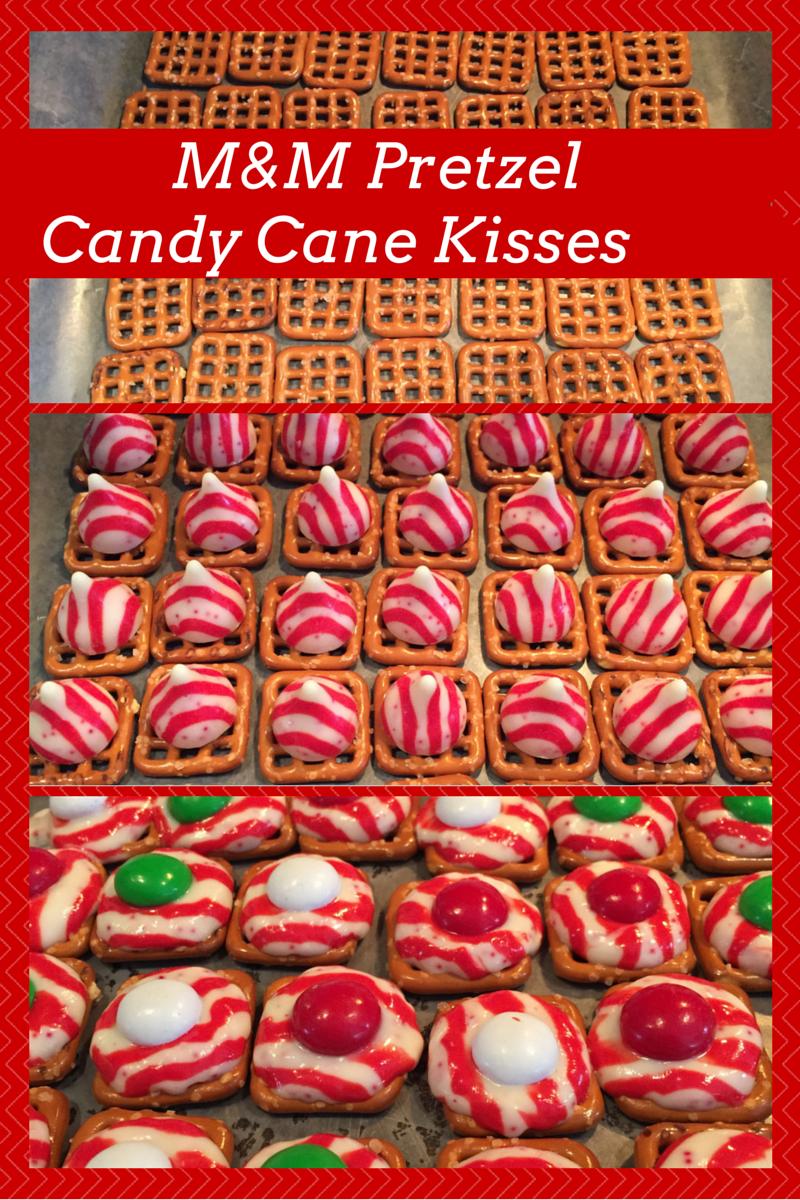M&M Pretzel Candy Cane Kisses