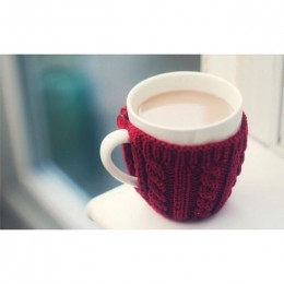 warm latte and mug