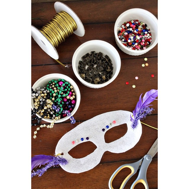 Celebrate Mardi Gras by decorating your own mask