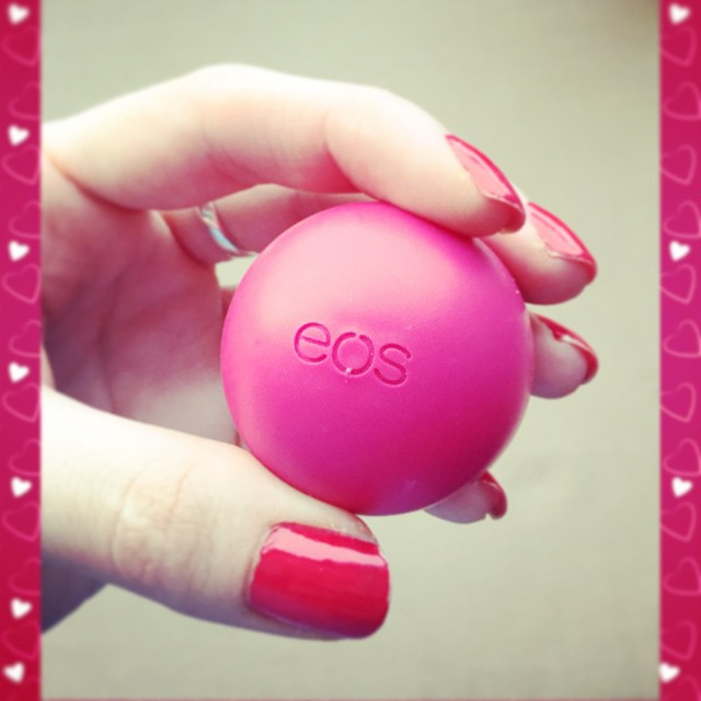 EOS lip balm, it is perfect for Valentines Day