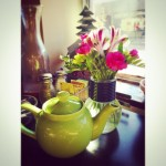 Tea & Flowers always make a morning good!