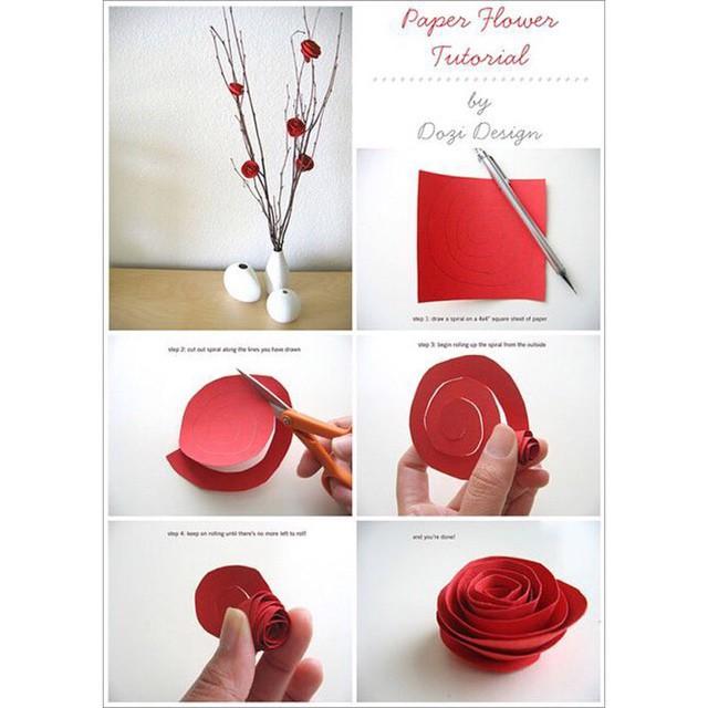 Valentine's Day paper bouquet