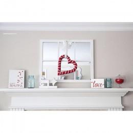 Valentines Day mirrored mantel