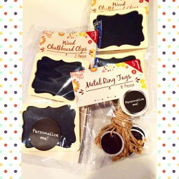 adorable chalkboard clips & tags
