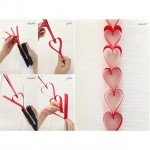 The Valentines Day countdown has officially begun! Heart Garland is an easy craft to make for decorating!