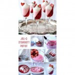 Jello Strawberry Parfait is a great Valentines Day party treat!❤️