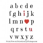 Get this free Valentines printable at http://eclecticallyvintage.com/2014/01/two-free-valentine-printables/