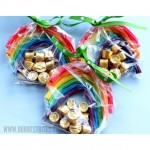 Make pots of gold and rainbow treat bags from OurBestBites.com