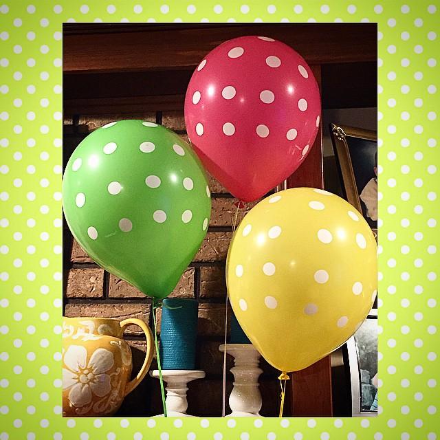 Polka dot balloons, the perfect Birthday accessory!!