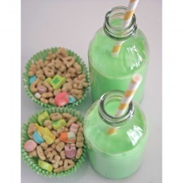 There is nothing else like green milk and lucky charms to end St. Patrick's Day