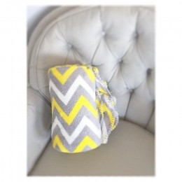 This chevron blanket is the perfect match to my grey chair