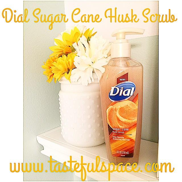 My @Dial Sugar Cane Husk Scrub brings a burst of Spring freshness into my home!