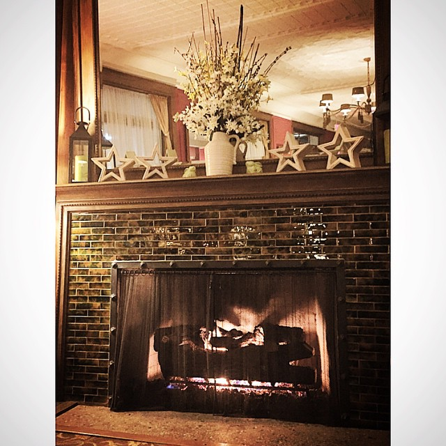 Enjoying this fireplace and fire