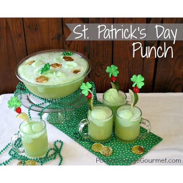 Make St. Patrick's Day Punch from PocketChangeGourmet.com