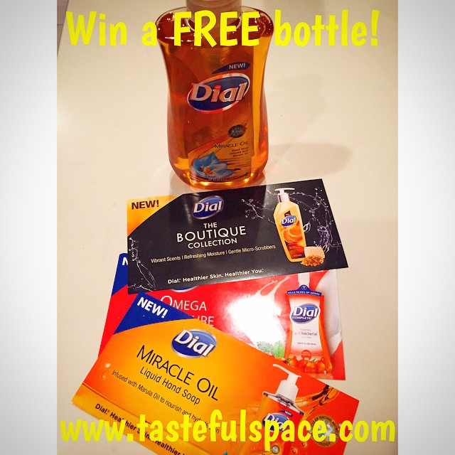Enter to WIN a free bottle of the NEW @Dial Miracle Oil Hand Soap infused with Marula Oil! Enter at tastefulspace.com