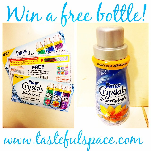 Only a few days left to enter to WIN a FREE bottle of the NEW @Purex Crystals ScentSplash!