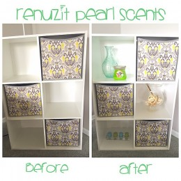 My before and after renovation using the new @Renuzit Pearl Scents