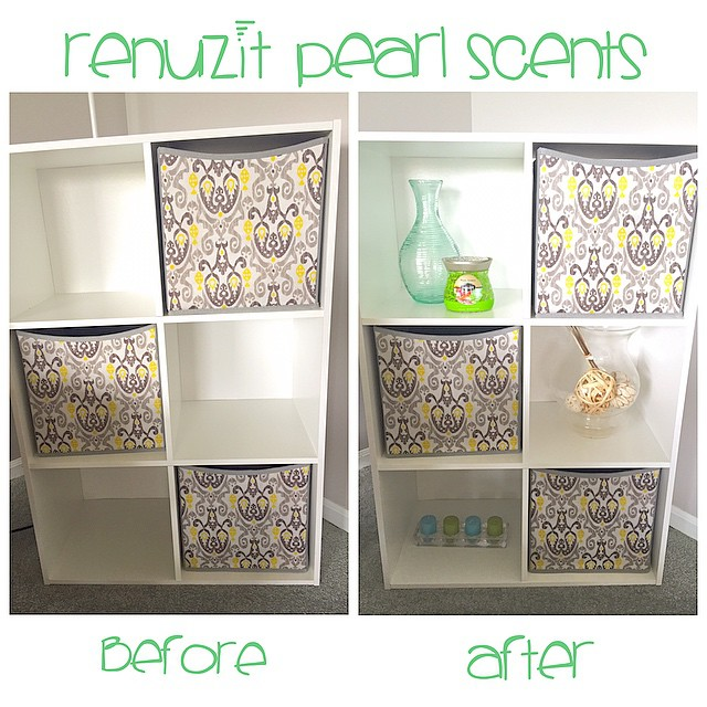 My before and after renovation using the new @Renuzit Pearl Scents!