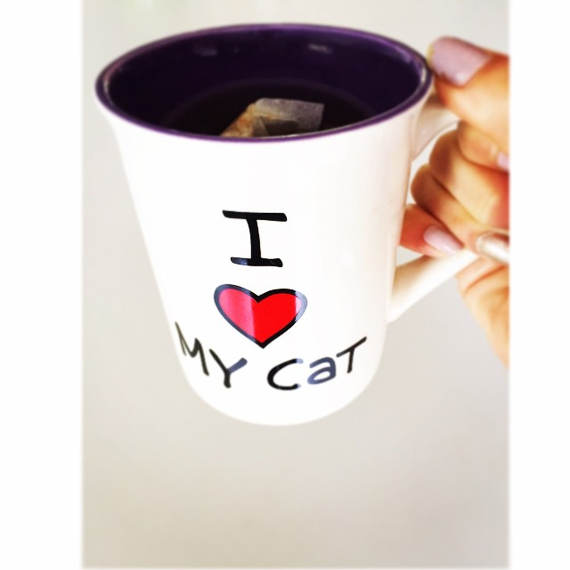 "My ""I Love My Cat"" mug will help me get through Monday!"