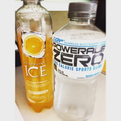 Staying hydrated can be a hard task. I love drinking Powerade Zero and Sparkling Ice to keep it exciting and get the vitamins I need