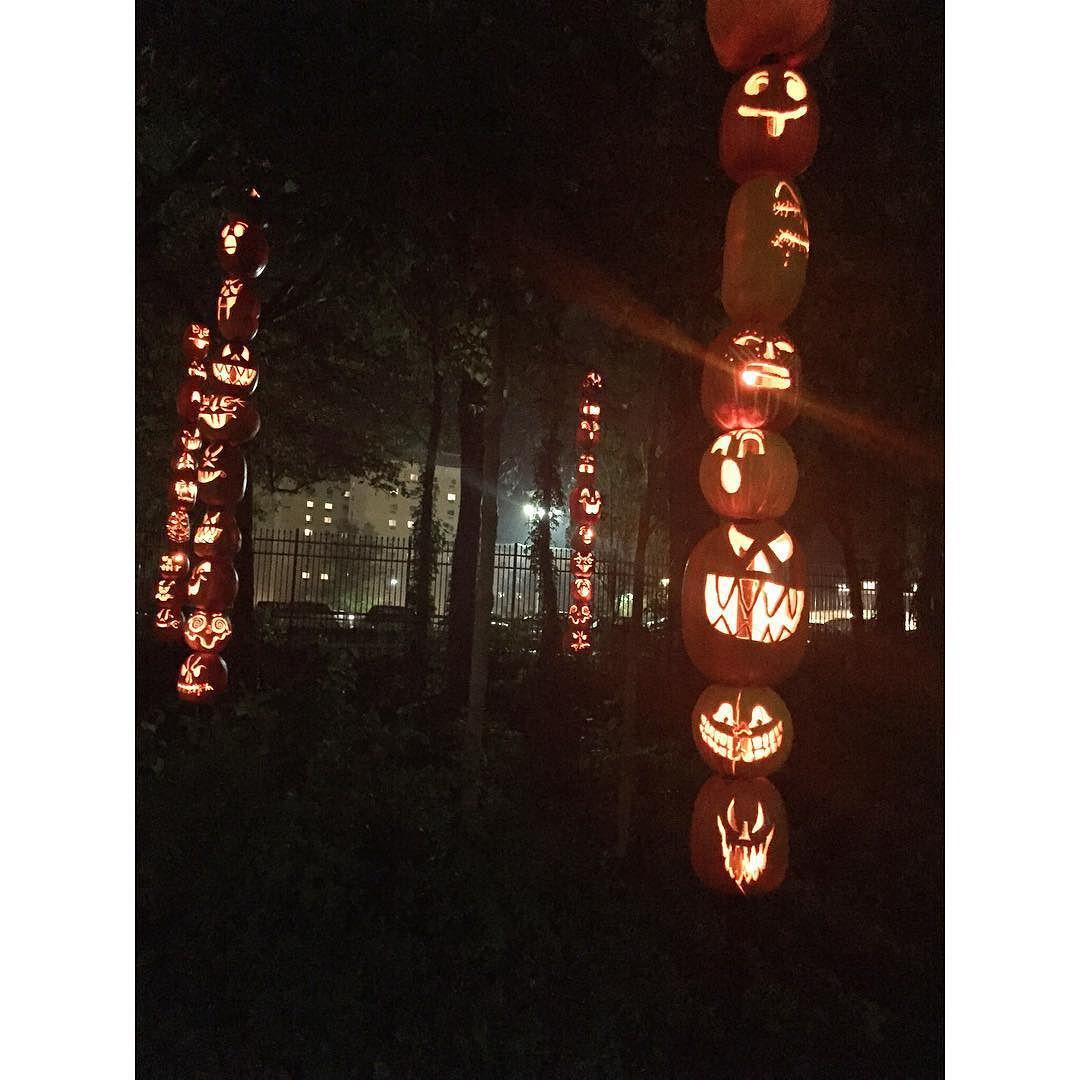 Pumpkin totem poles!🗿
