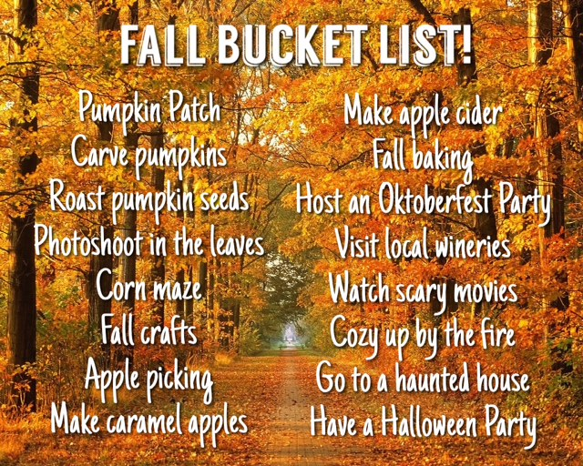 #OctoberScopers Day 3: My Fall Bucket List