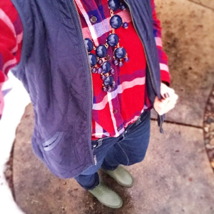 Rainy weekends call for plaid shirts and rainboots!