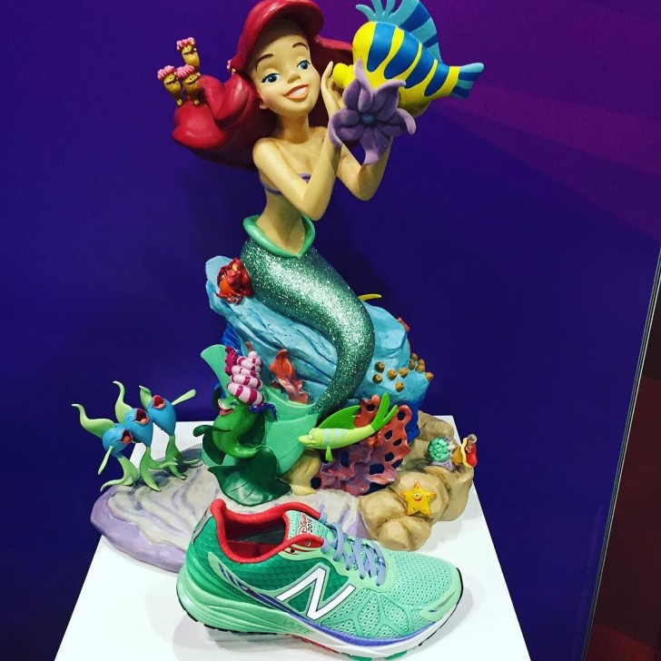 Ariel inspired shoe from @newbalance at the @rundisney expo! 🐠💚