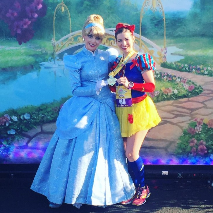 Cinderella helped me hold my medal💙