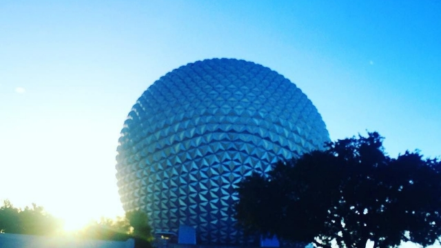 Running through Epcot💙