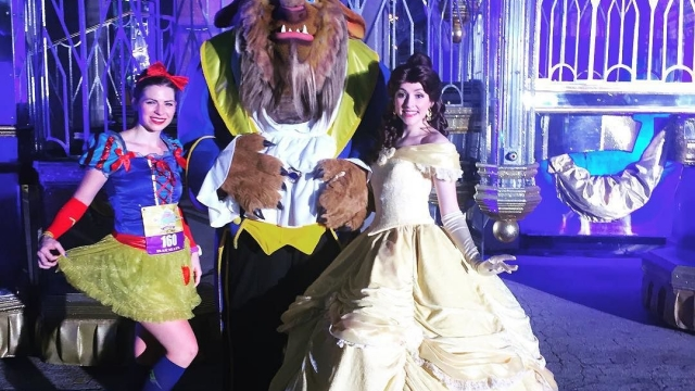 The Beast and Belle…her dress has always been one of my favorites! 🦁💛