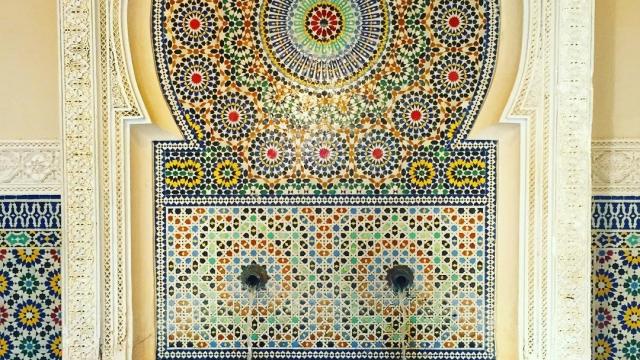 Mosaic fountain at Morocco in World Showcase ✨