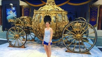 Flashback Friday: Seeing the golden carriage from the Cinderella movie 👑