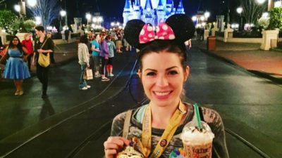 My medal, Starbucks, Main Street, and Cinderella's Castle is all I need 😍