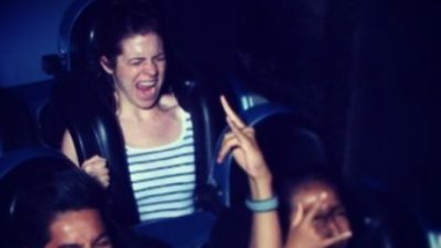 The face you make when you ride Rockin Roller Coaster for the first time 😆