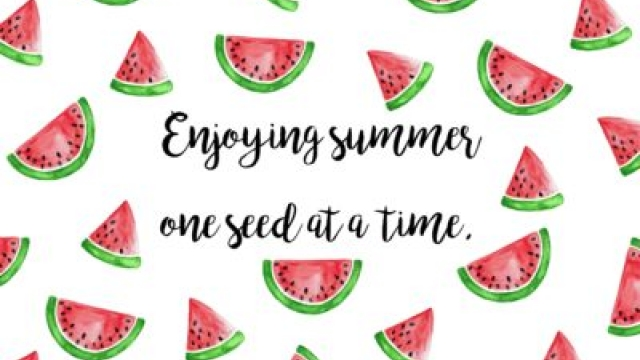 Enjoying Summer One Seed At A Time