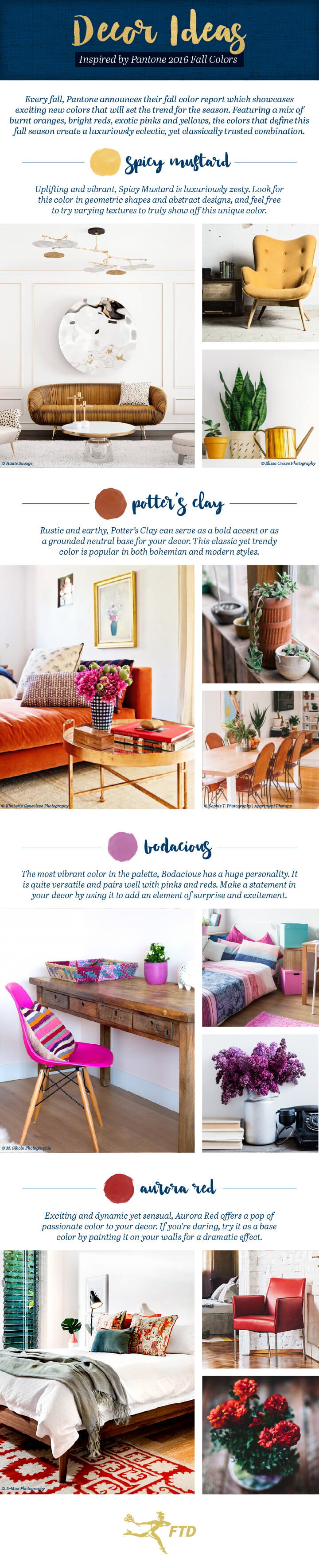 pantone fall decor ideas